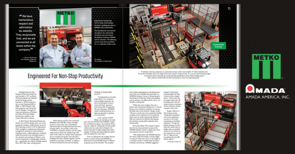 The Fabricator & AMADA's Total Solutions Magazine Features Metko